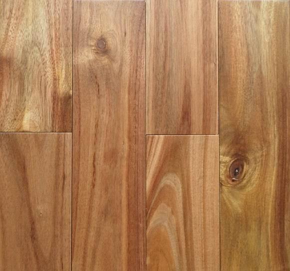 Prefinished Natural Asian walnut (Acacia)Solid Hardwood Flooring