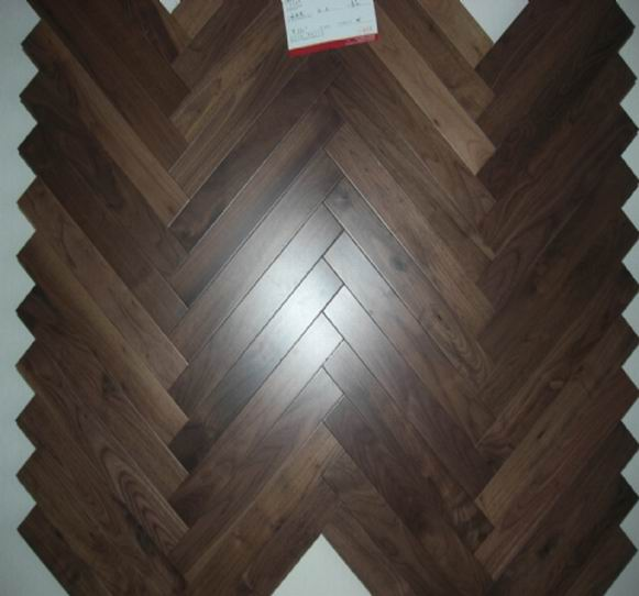 Walnut Herringbone Parquet American Walnut Solid Wood