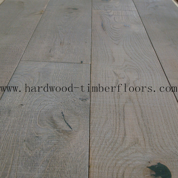 Grey Oak Wide Plank Hardwood Floors