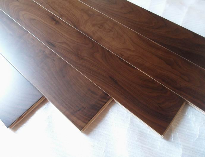 clear grade American walnut engineered flooring