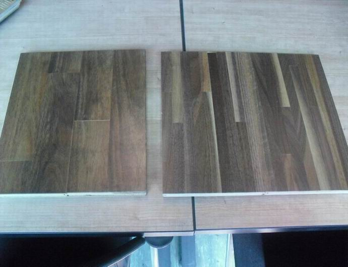 Multi strip engineered walnut