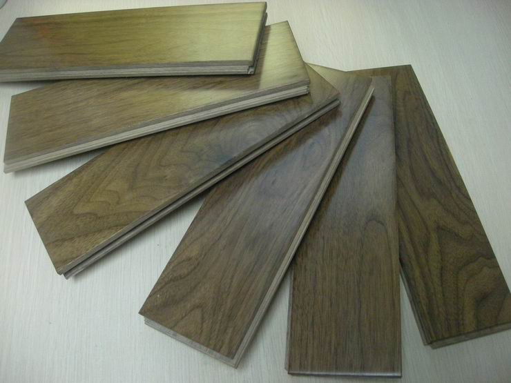 Solid walnut hardwood floors