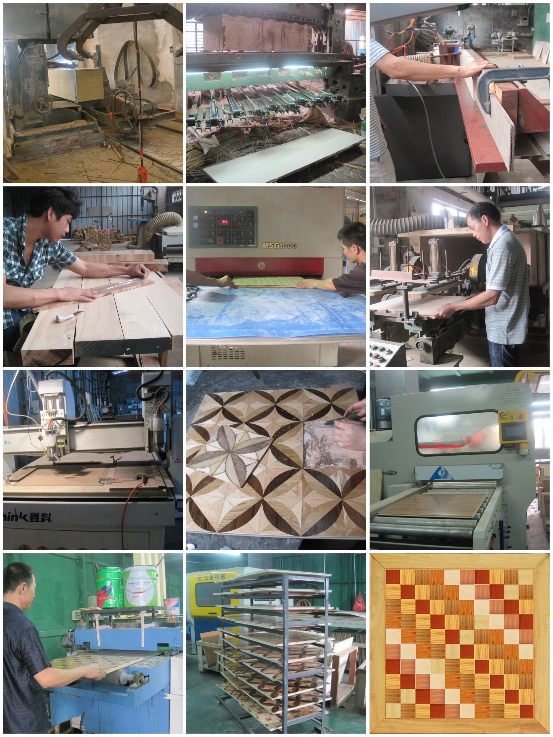 The Production Process Of Art Parquet Flooring From C Amp L