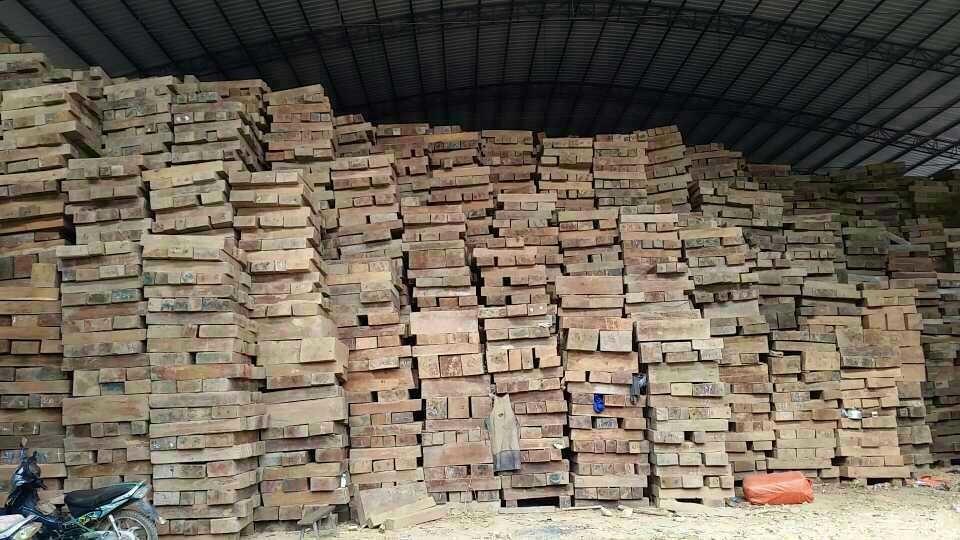 Raw material stock of burma teak flooring from c l wood
