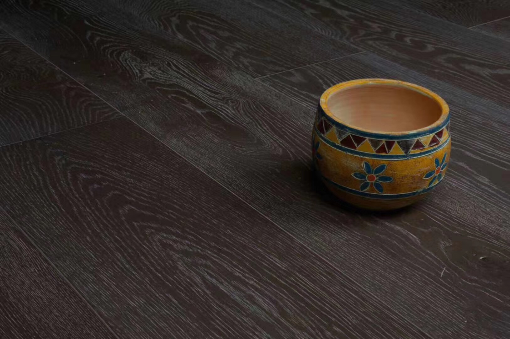 black gray oak engineered wood flooring
