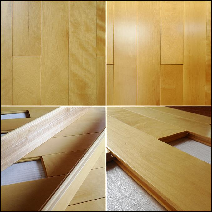 Maple Clear Hardwood Flooring: Smooth Prefinished Maple Flooring,clear Grade Solid Maple
