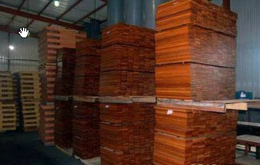hardwood timber floor processing