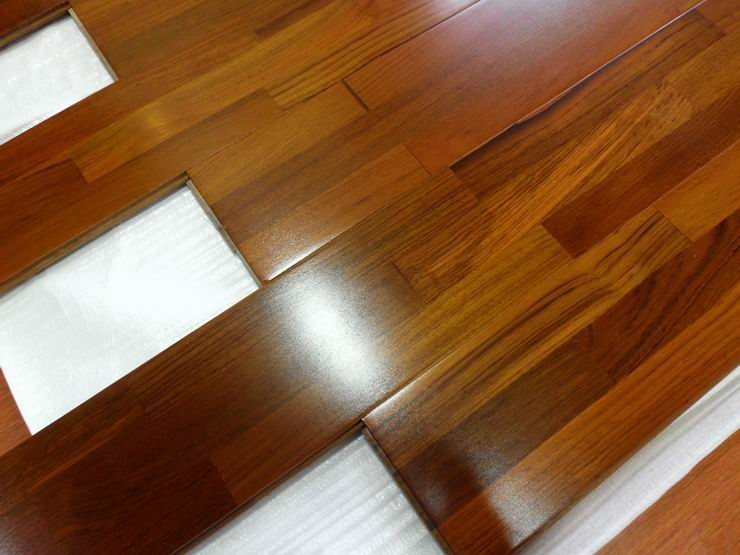 Floating Hardwood Flooring Finger Jointed Teak Hardwood