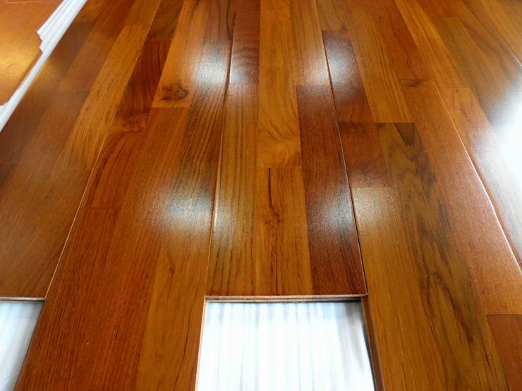 Wood flooring installation teak wood flooring installation for Floating hardwood floor