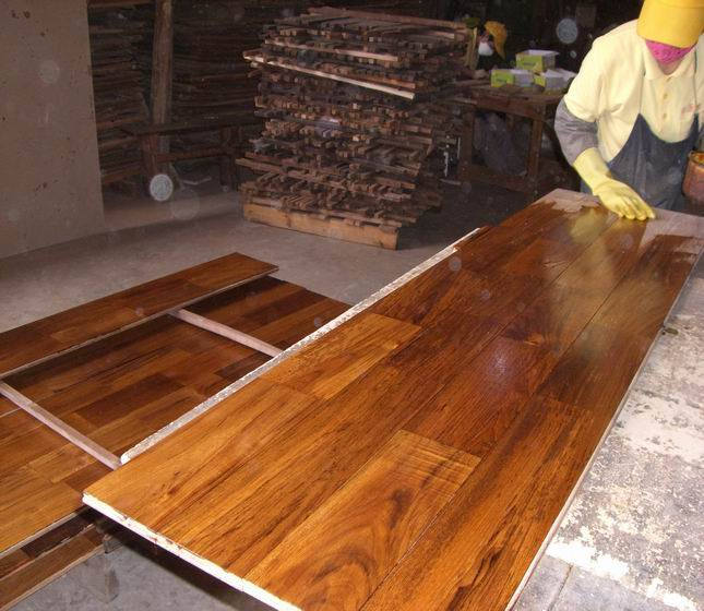 15mm natural oiled teak flooring