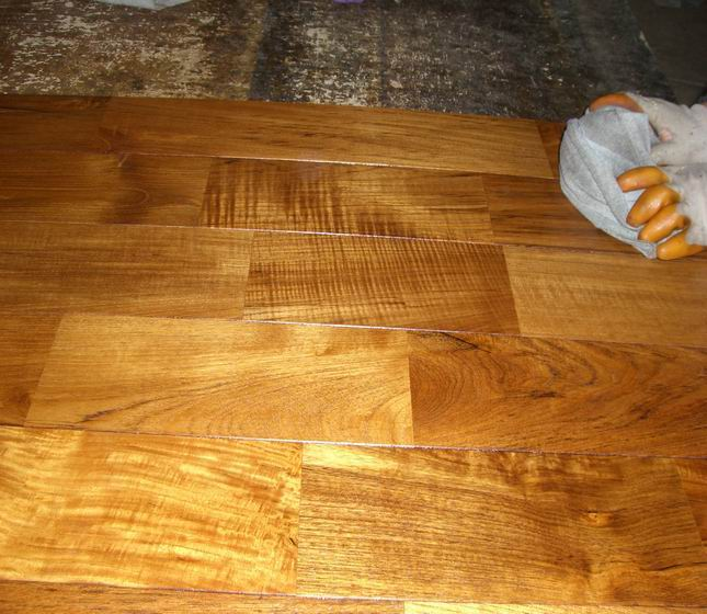 oiled finish teak wood flooring